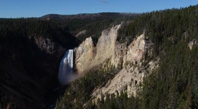 La cascada inferior del Yellowstone