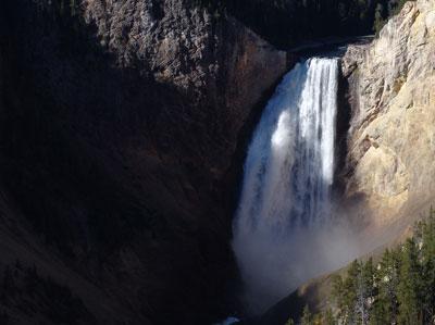 Más cascada inferior del Yellowstone