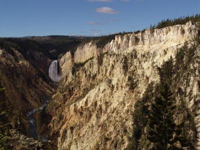 Y aún más cascada inferior del Yellowstone