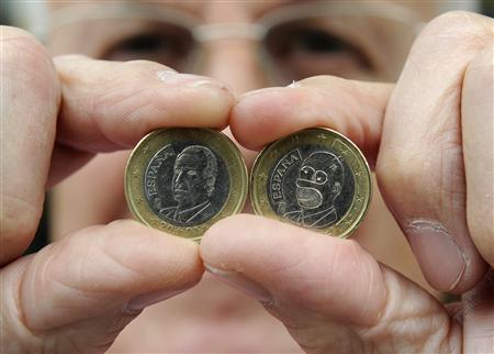 Moneda de euro con la efigie de Homer Simpson